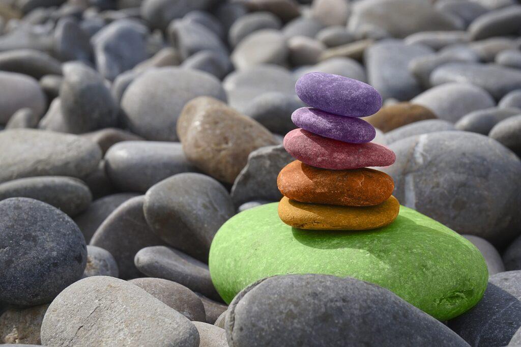 stones, sea, round